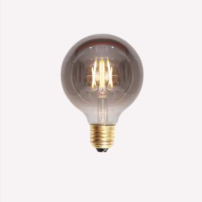 LED Filament Globe Smoke 80mm E27 4W | Belysning.online
