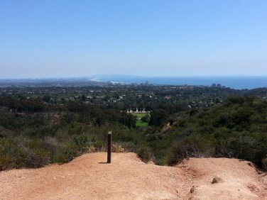 Ocean views from one of the best hikes in Santa Monica in Will Rogers