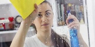 limpar os vidros com vinagre