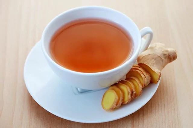 O chá gengibre é um dos chás indicados para secar barriga