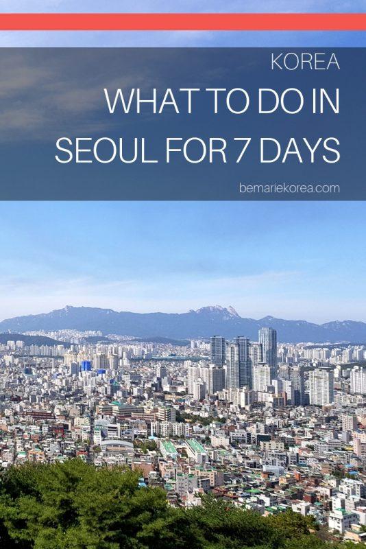 seoul korea itinerary 7 days