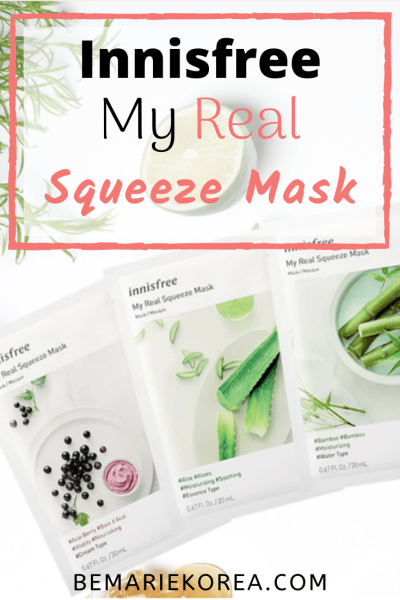 my real squeeze mask innisfree review