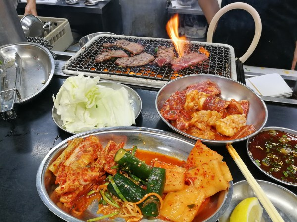 korean bbq grill table
