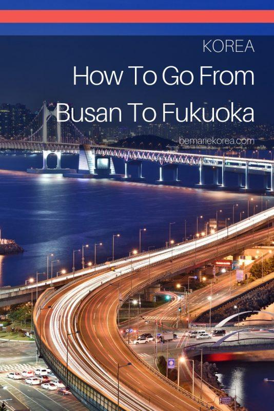 busan ferry to fukuoka