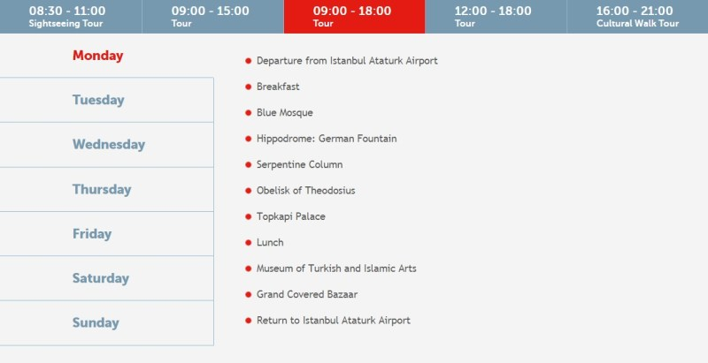 Turkish Airlines istanbul layover tour