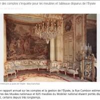 Présidence Sarkozy, brocante à l'Élysée: 32 œuvres , 625 meubles portés disparus...