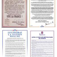 Récup' (politique) : le tract «royal» de Nicolas Sarkozy... #LesRépublicains (?)