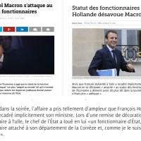 #Fonctionnaires: F. Hollande désavoue Macron (bonus: «Top 10 de ses conneries»)