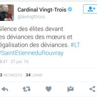 """Homophobie """"puissance Vingt-Trois"""", déviance [du] #Cardinal ..."""