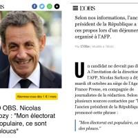 Tranquille, Nicolas #Sarkozy traite ses électeurs de #ploucs ...