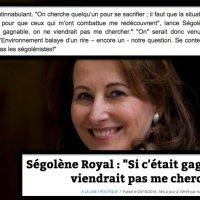 «On cherche quelqu'un pour se sacrifier en 2017 ?» S. #Royal, désignée «volontaire» décline la sollicitation...