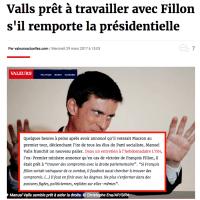 Tapinage (politique): M. #Valls prêt à travailler avec #Fillon s'il gagne. Ho? Mon Dieu ...