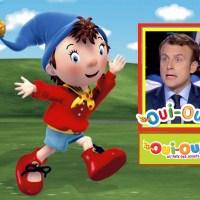 """Emmanuel #Macron, le """"candidat Oui-Oui"""", il est gentil ... #LeGrandDébat au Pays des jouets."""