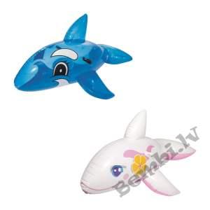 "Bestway - 62"" x 37""/1.57m x 94cm Pink/Blue whale Ride-on"