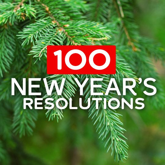 100 New Years Resolutions & Resources to Help Stick with It