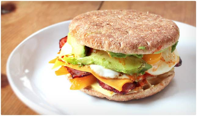 low calorie breakfast sandwich