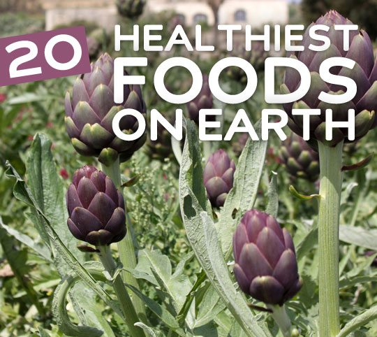 20 Healthiest Foods on Earth- for your health & wellness.