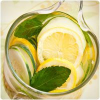 cucumber lemon detox water