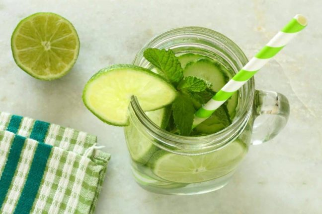 Warm lime water