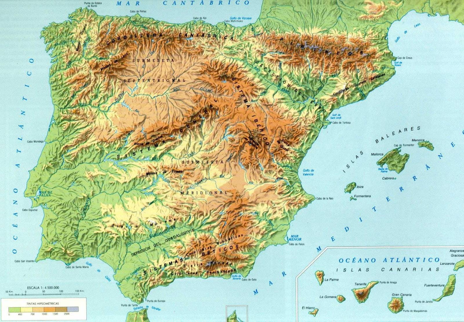 Ficha de Trabalho – Características naturais da  Península Ibérica (1)