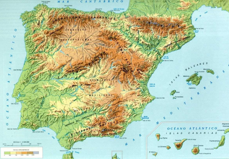 Características naturais da Península Ibérica