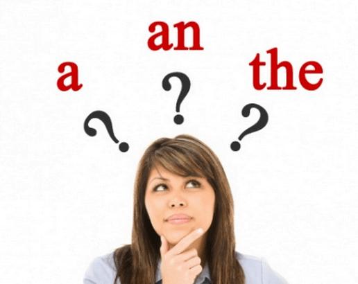 Indifinite and definite articles
