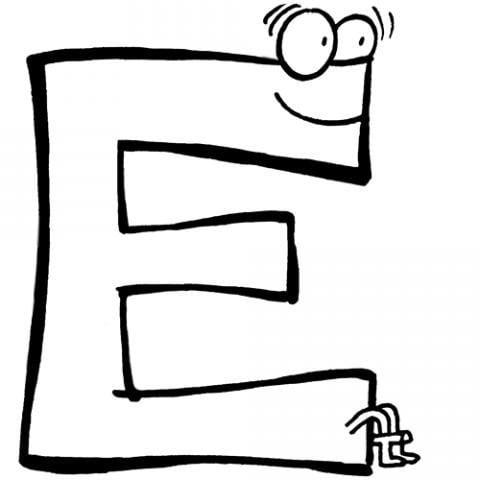 Grafismos e grafemas da letra e