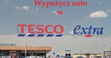 Wypożycz auto w Tesco