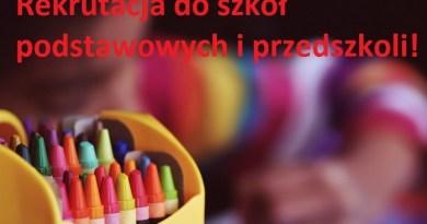 Rekrutacja do szkół podstawowych i przedszkoli
