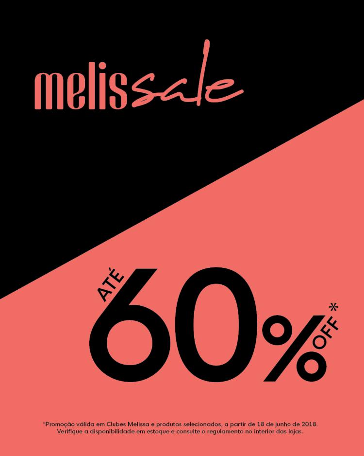 Clube Melissa oferece até 60% OFF em Melissale