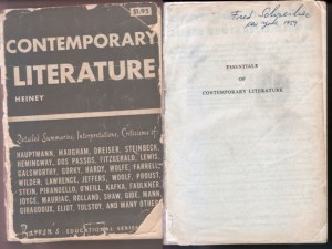 Contemporary Literature cover and frontispiece