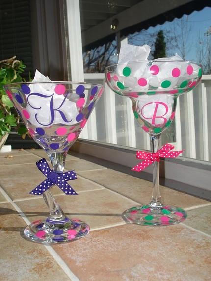 Polka Dot Bridesmaid Glasses $15