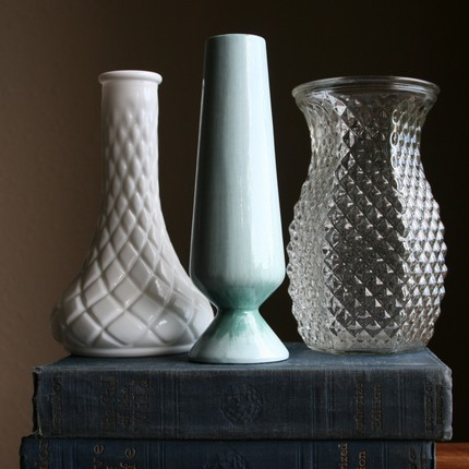 Trio of vintage vases - from Impulse Art on Etsy