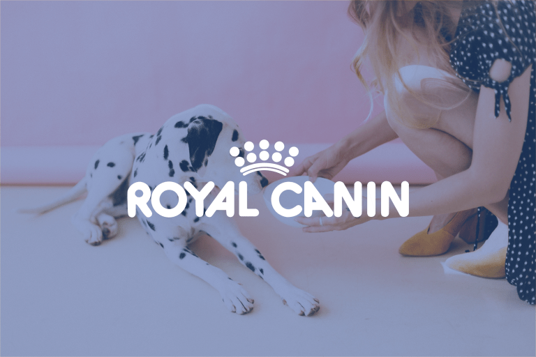 Royal Canin logo + background