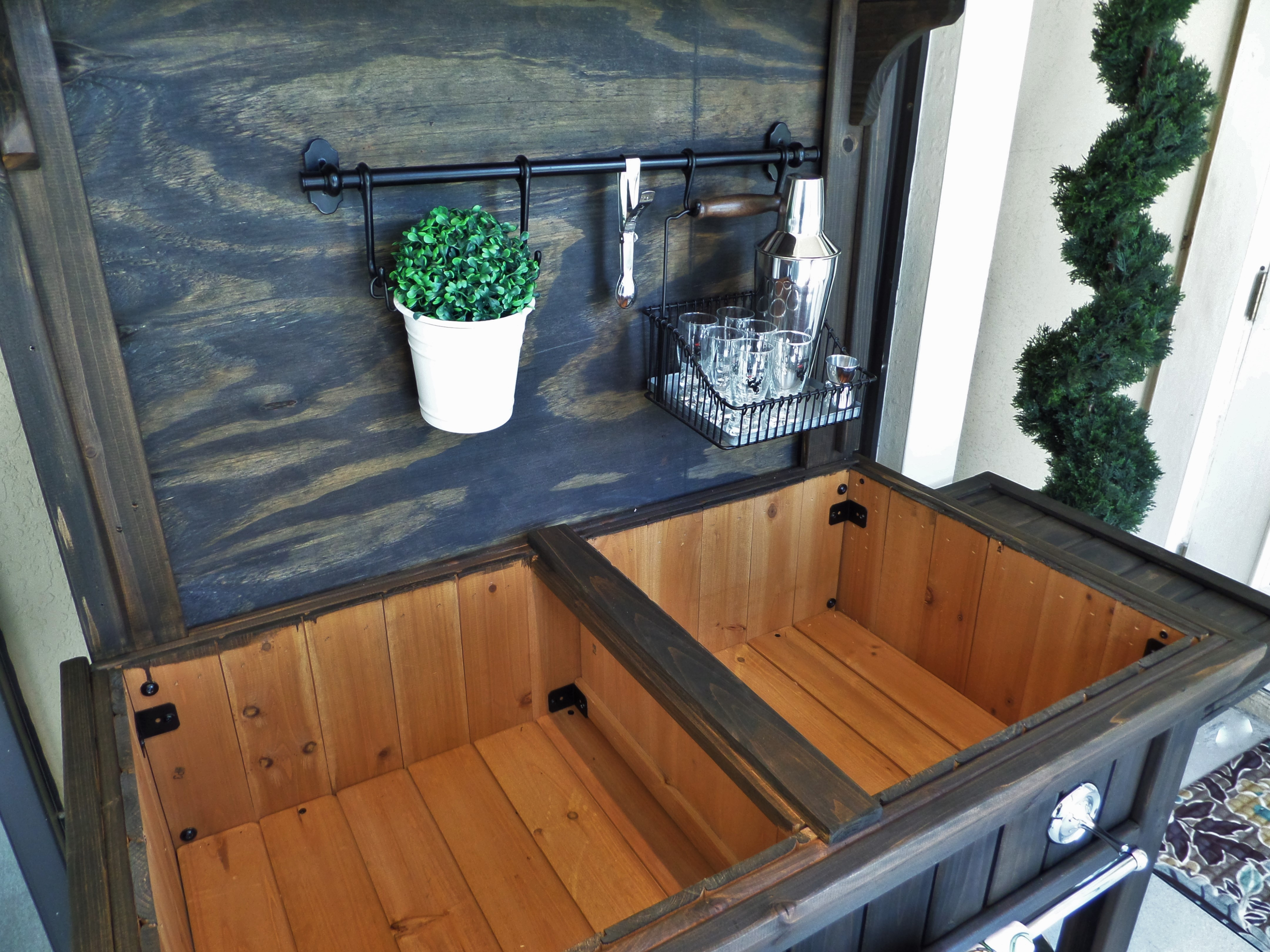 Diy Potting Bench Turned Outdoor Bar Be My Guest With