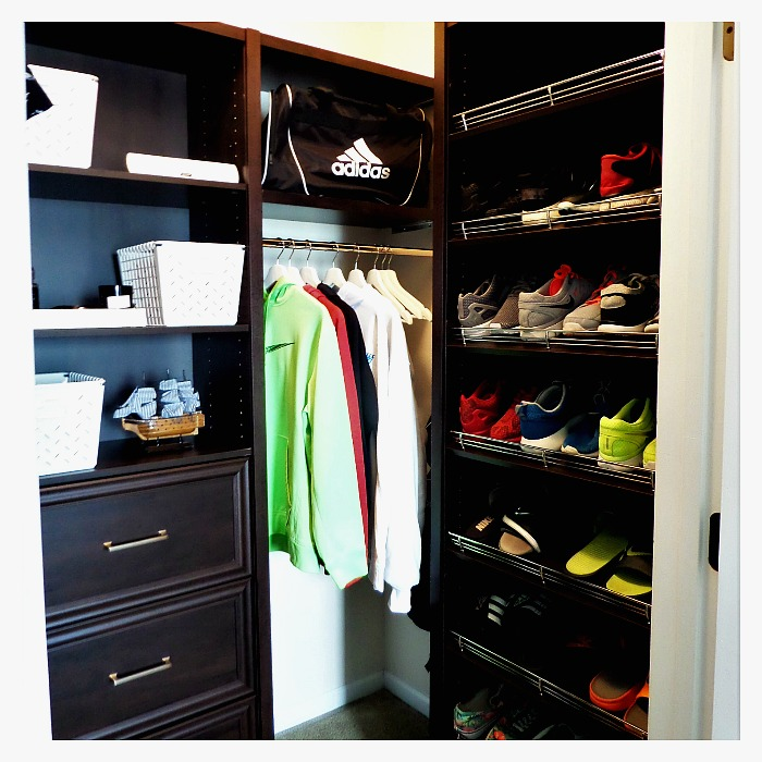 Back To School Teen Boy Closet Makeover WClosetMaid Space
