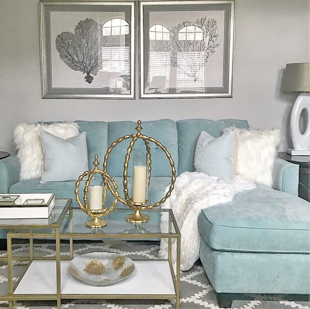 """Sea Side Glam Living Room - Be My Guest With Denise on """"Room Decor""""  id=20178"""