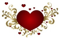 Valentines Day Header Heart from DreamsTime
