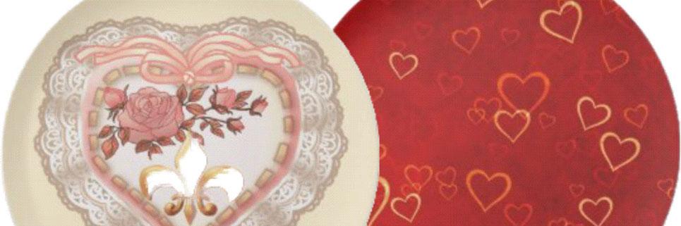 Romantic Valentine Dinner Plates Be My Valentine World
