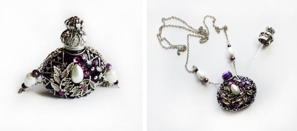 Decorative Perfume Bottle Necklace
