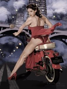 Pin Up Girl del ilustrador Leolux