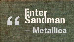 Enter Sandman Metallica