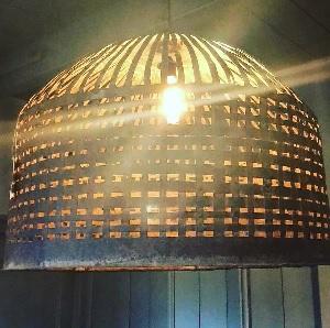 Ronde ijzeren handgemaakte hanglamp