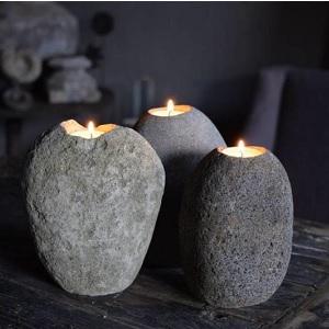 Waxinehouder steen
