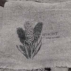 Shabby linnendoek hyacint