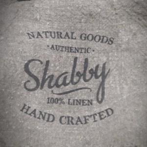 Shabby doek met tekst.
