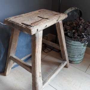 Uniek houten bank