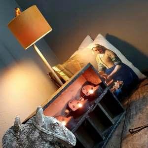 Melkmeisje kussen 45 x 45 cm haal je bij Benard's Woonaccessoires