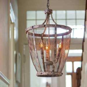 Hanglamp antiek roest - voor een stoer en landelijk interieur - Benard's Woonaccessoires