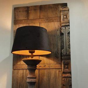 trendy lampenkap gemaakt van fluweel in de kleur zwart - Benard's woonaccessoires